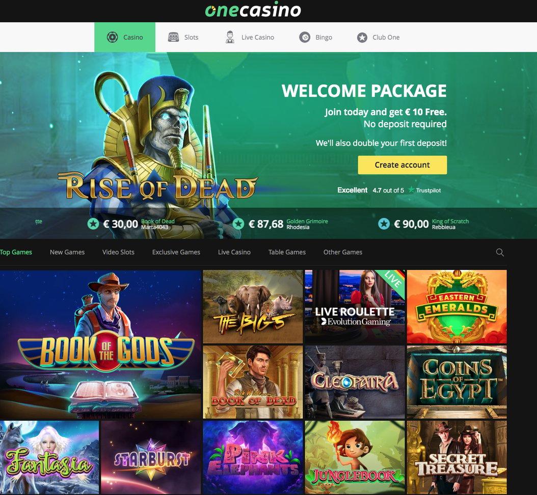 One Casino Review 2020 Collect 10 No Deposit Bonus Now