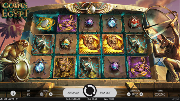 NetEnt launches new Coins of Egypt video slot