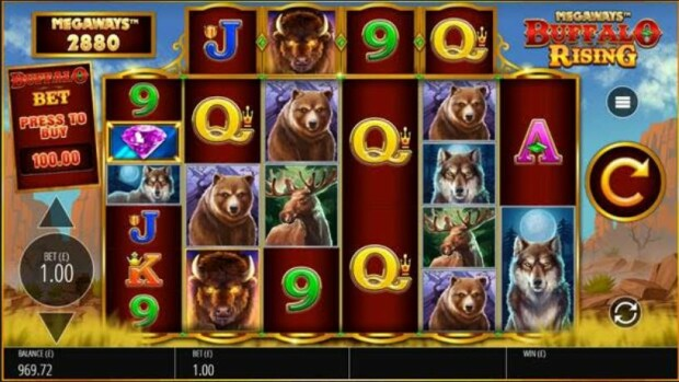 Blueprint Gaming releases new slot game Buffalo Rising Megaways
